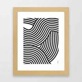 Moving lines Framed Art Print