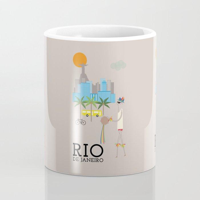 Rio - In the City - Retro Travel Poster Design Coffee Mug