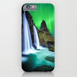 Aurora Borealis Waterfall iPhone Case