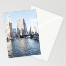Magic Hour Downtown, Chicago River Stationery Cards
