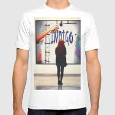 indigo White MEDIUM Mens Fitted Tee