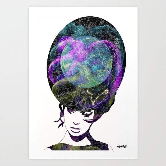 Pisces (zodiac series 2) Art Print