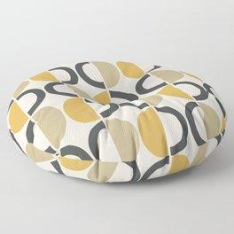 Mid Century Modern Half Circle Pattern 590 Floor Pillow