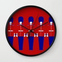 uk Wall Clocks featuring UK by Marcus Wild