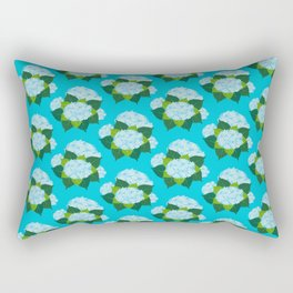 Hydrangeas, Blue Garden Rectangular Pillow