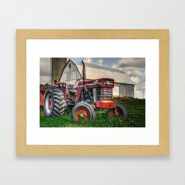 Farm Scene - Painting Framed Art Print
