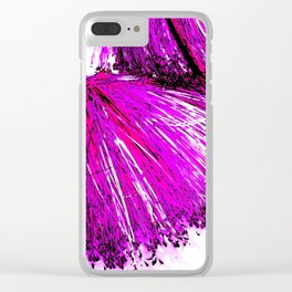 Tickle me Pink, tropical plant study Clear iPhone Case