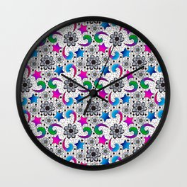 Bright and Lacy Wall Clock