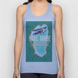 Lake Tahoe map Unisex Tank Top