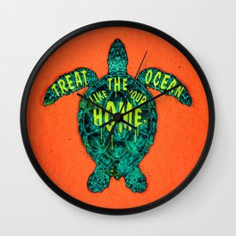 ocean omega (variant 2) Wall Clock