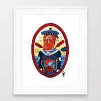 sailor Framed Art Prints featuring Sailor by Ricardo Cavolo
