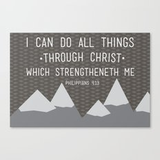 I CAN // Philippians 4:13 Canvas Print