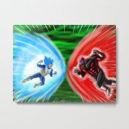 Super Saiyan Blue Vegeta X Jiren 2018 Metal Print