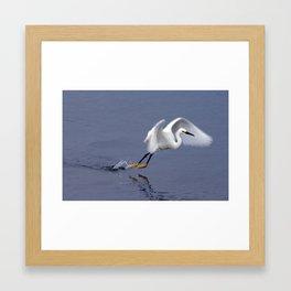 Snowy Leap Framed Art Print