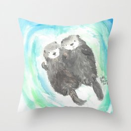 "Made for each ""otter"" Throw Pillow"