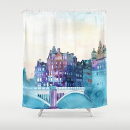 Winter in Edinburgh Shower Curtain
