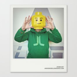 Minifig me ! – Everyone has a LEGO piece inside - 1 Canvas Print