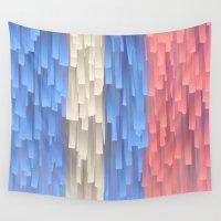 fringe Wall Tapestries featuring Fringe (Blue) by Jacqueline Maldonado