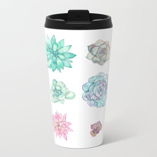 Succulents 2 Metal Travel Mug