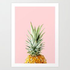 queen pineapple Art Print