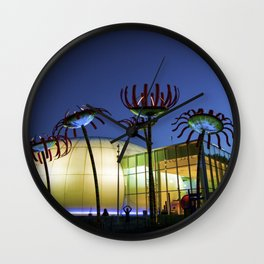Seattle Glass Flowers - Chihuly Garden Wall Clock