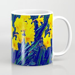 BLUE-PURPLE GARDEN OF YELLOW SPRING DAFFODILS Coffee Mug