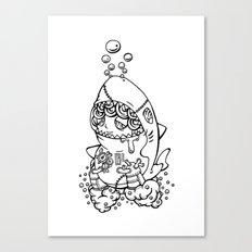 Shark's submarine Canvas Print