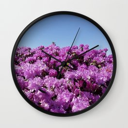 "View of ""Mount Rhodendron"" on a clear day Wall Clock"