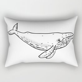 Humpback Whale Drawing Side Rectangular Pillow