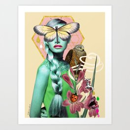 Mademoiselle Butterfly Art Print