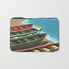Boats In A Row Bath Mat