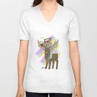 thranduil V-neck T-shirts featuring Party Thranduil by BlacksSideshow