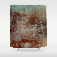 lake Shower Curtains featuring lake by abstractgallery
