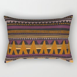 Colorful Hand-Painted Ethnic Pattern Rectangular Pillow