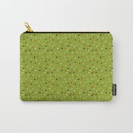 Pom Poms on Green Carry-All Pouch