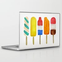 popsicle Laptop & iPad Skins featuring Popsicle Collection by Cat Coquillette