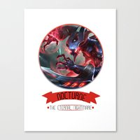 league of legends Canvas Prints featuring League Of Legends - Nocturne by TheDrawingDuo