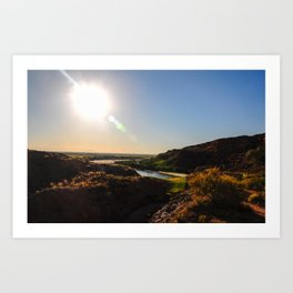Sun Over Water Art Print