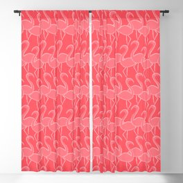 Flamingo Flamingle - pink on coral Blackout Curtain