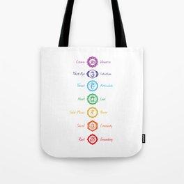 7 Chakra Symbols #02 Tote Bag