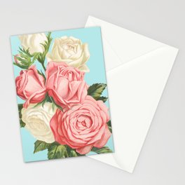 Pink Roses Vintage Stationery Cards
