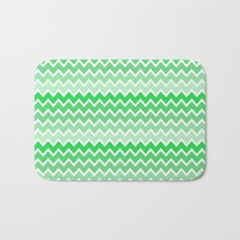 Green Ombre Chevron Bath Mat