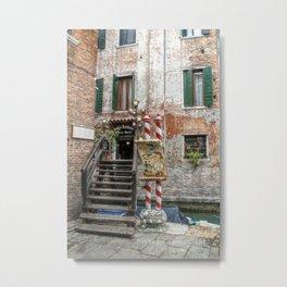 Venezia -La trattoria Metal Print