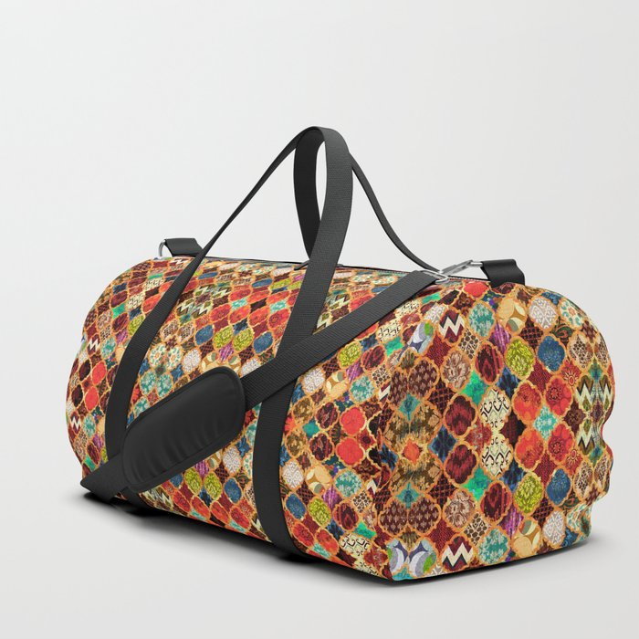 -A32- Epic Colored Traditional Moroccan Artwork. Duffle Bag
