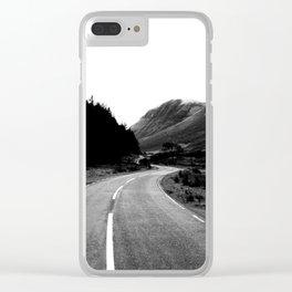 Road through the Glen - B/W Clear iPhone Case
