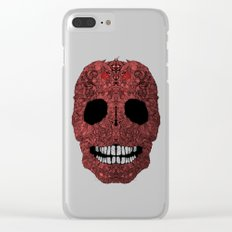 Skull No.8 Chagrin Clear iPhone Case
