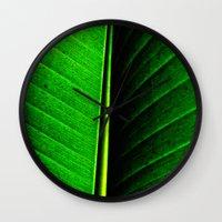 leaf Wall Clocks featuring Leaf by Melanie Ann