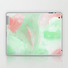 Coral Mint Abstract Laptop & iPad Skin