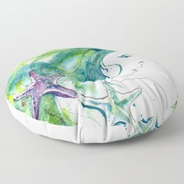 Whispers By The Sea Floor Pillow