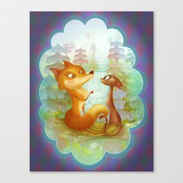 The Fox and the Cat Canvas Print
